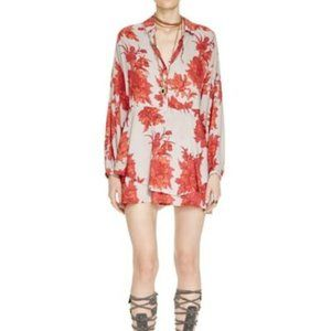 FREE PEOPLE Printed Shake It Dress in Sand - S